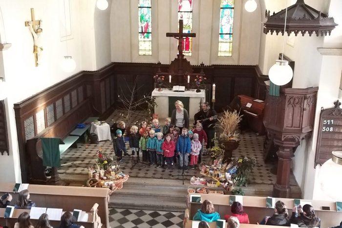 Erntedankgottesdienst mit Kindergarten 2019