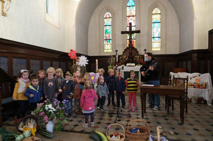 Erntedankgottesdienst mit Kindergarten