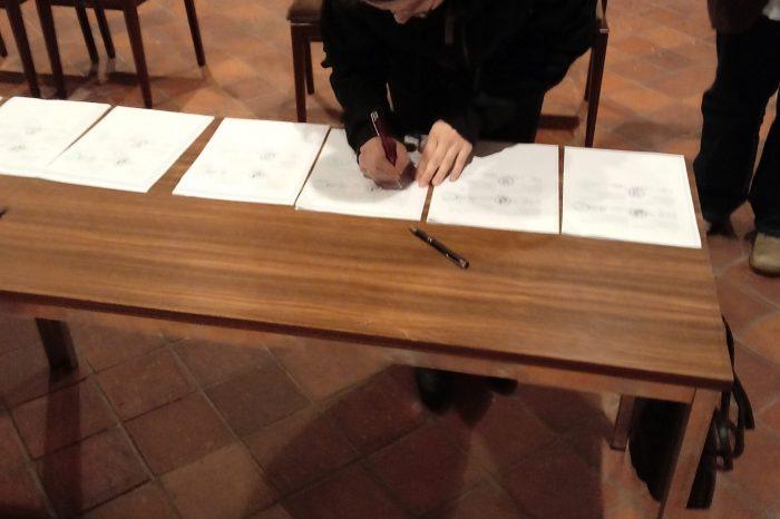 Unterzeichnung Schwesternkirchverhältnis
